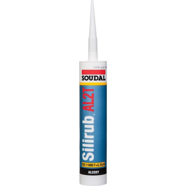 Mastic silicone blanc - 300 ml - Silirub AL2T - Soudal