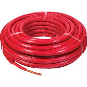 Tube PER gainé isolé - Rouge - 16 mm - 13 mm - 50 m - Sélection Cazabox