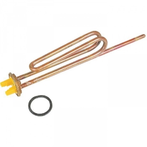 Resistance blindee thermo-plongeur droite unipolaire à bride - 2500 W - Cotherm