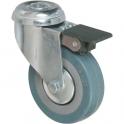 Roulette à frein à œil pivotante - Ø 100 mm - Série S19 AF - Caujolle
