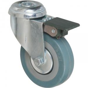 Roulette à frein à œil pivotante - Ø 80 mm - Série S19 AF - Caujolle
