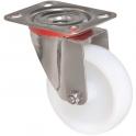 Roulette à platine pivotante - Ø 100 mm - Série Inox - Caujolle