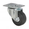 Roulette à platine pivotante - Ø 125 mm - Série S2C - Caujolle