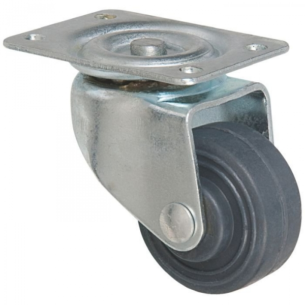 Roulette à platine pivotante - Ø 50 mm - Série S12 - Caujolle