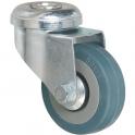 Roulette bleu à œil pivotant - Ø 125 mm - Série S19 - Caujolle