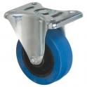 Roulette bleu à platine fixe - Ø 100 mm - Série S7N - Caujolle