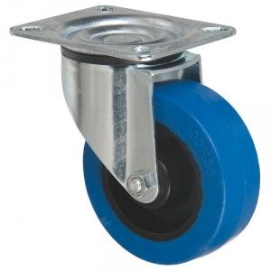 Roulette bleu à platine pivotante - Ø 125 mm - Série S2N - Caujolle