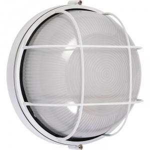 Hublot rond étanche - 100 W - Avec grille de protection - Dhome