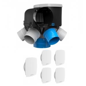 Kit VMC auto-réglable avec bouche LiNE - AUTOCOSY HI - Atlantic