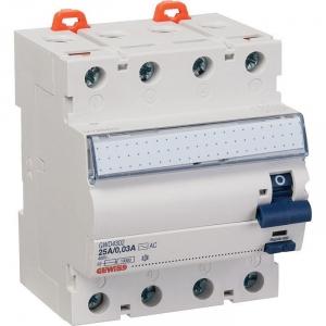 Interrupteur Différentiel tétrapolaire, protection des départss - 63A - AC/0,03 - Gewiss
