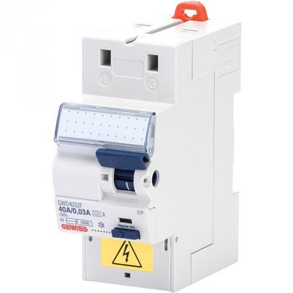 Interrupteur différentiel 2P 30mA FIXMATIC, protection des départs .s - 40A - A/0,03 - Gewiss