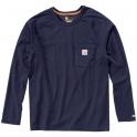 T-Shirt bleu manches longues - Force - Taille XL - Carhartt