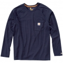 T-Shirt bleu manches longues - Force - Taille XXL - Carhartt