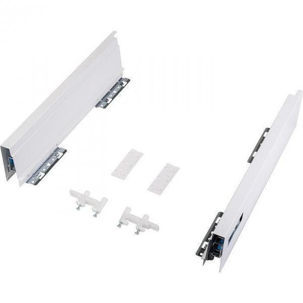Kit de côtés de tiroir blanc ATIRA - 520 mm - La paire - Hettich