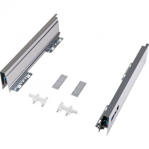 Kit de côtés de tiroir argent ATIRA - 420 mm - La paire - Hettich