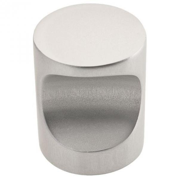 Bouton encoche aluminium poli - 20 mm - Métaux Ouvres et Décorés