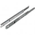 Coulisse à bille 10 kg pour tiroir bois - 250 mm - Rainure 17 mm - La paire - Hettich