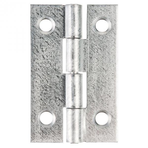 Charnière rectangulaire nœud roulé simple feuille - 80X45 - Monin