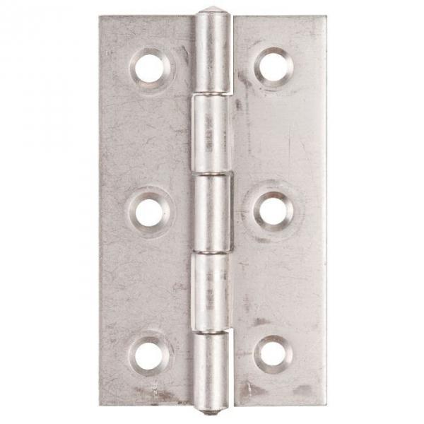 Charnière rectangulaire en inox nœud roulé simple feuille - 60X35 - Monin