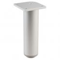 Pied design Lano RO argent anodisé - 100 mm - Hettich