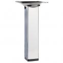 Pied carré en acier de table - chrome - 350 mm - Häfele