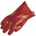 Gant de protection PVC rouge - 27 cm - La paire - Taille 10 - Eurotechnique