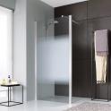Paroi de douche fixe ouverte verre transparent - 100 cm - Jazz Plus - Leda