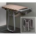 Siège de douche escamotable taupe - 360 x 580 x 500 mm - Pellet ASC