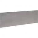 Plinthe de bas de porte Plate Inox satiné - 930x250 percée fraisée - Duval