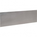 Plinthe de bas de porte Plate Inox satiné - 830x250 percée fraisée - Duval