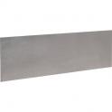 Plinthe de bas de porte Plate Inox satiné adhésif - 730x250 - Duval