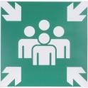 Panneaux d'évacuation - secours - point de rassemblement - Novap