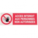 Panneau rectangulaire - acces inter. pna - Novap