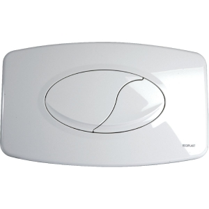Plaque de commande blanche - Double touche - Euro Futura - Regiplast