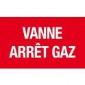Panneau prévention incendie - vanne arret gaz - Novap