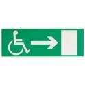 Panneaux d'évacuation - sortie handicapé droite - Novap