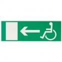 Panneaux d'évacuation - sortie handicapé gauche - Novap