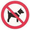 Disque plastique Ø 30 cm - interdit aux chiens - Novap