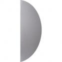 Plaque de propreté 1/2 lune aluminium argent adhésive - Duval