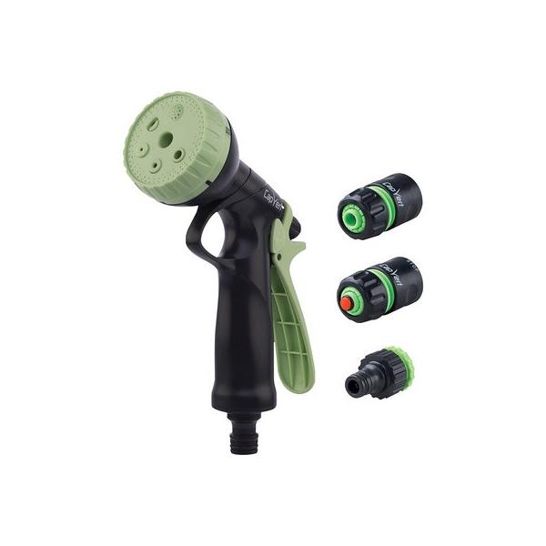 Kit pistolet d'arrosage à pomme ABS et raccord - Cap Vert