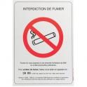 Panneau rectangulaire - interdiction de fumer - Novap