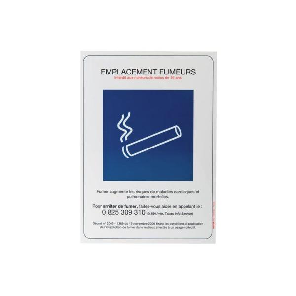 Panneau rectangulaire - emplacement fumeur - Novap