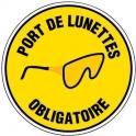 Panneau rond de signalisation - port de e lunettes obli - Outibat