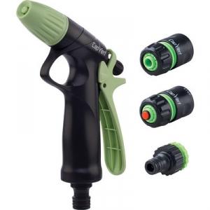Kit pistolet d'arrosage à jet progressif ABS et raccords - Cap Vert