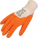 Gants latex orange - lot 10 paire t9 - Outibat
