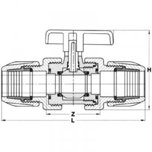 Vanne PVC - d 40 - Sélection Cazabox