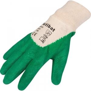 Gants enduit de latex vert - lot 10 paire t9 - Outibat