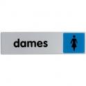 Plaque signalétique obligation / information - bleu - dames - Novap