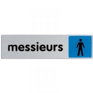 Plaque signalétique obligation / information - bleu - messieurs - Novap