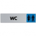 Plaque signalétique obligation / information - bleu - wc - Novap